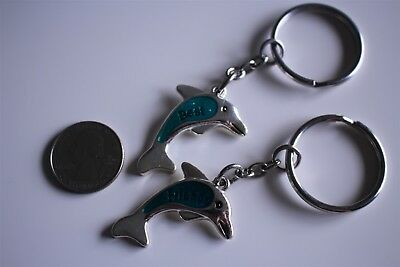 Best Friends Two Part Dolphins Pair Charm Key Chain Keyring #20573