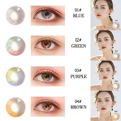 2pc UV Protection Contact Lenses Women Party Cosplay Eyewear Eye Makeup Tool LOT