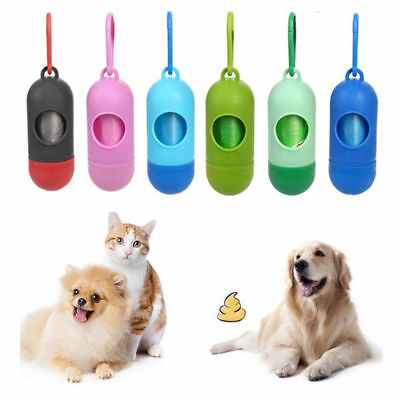 Dog Pet Puppy Poo Poop Waste Bag Dispenser Holder Scoop 1 Free Refill Roll
