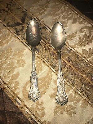 Hotel Astor New York City Wallace Silver Plate Serving Spoon Pair