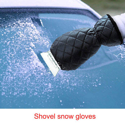 Ice Mittens Car Windshield Snow Scrapers Waterproof Gloves Lined Thick Fleece