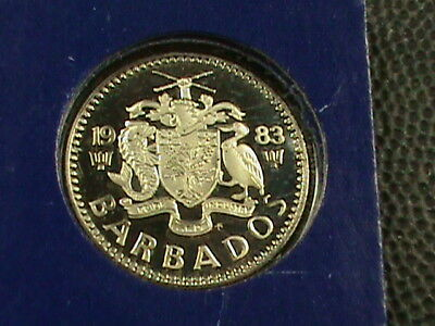 BARBADOS  10 Cents  1983  PROOF ( RARE )  ,  $ 2.99  maximum  shipping  in  USA