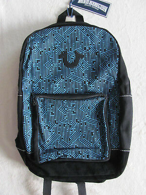 True Religion Unisex Backpack -Digital Print -Black   Blue- NWT- Retail  149 1c79d34f601ef