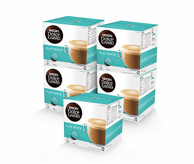 NESCAFE Dolce Gusto Flat White lovers bundle: 5 boxes of Flat White capsules pod