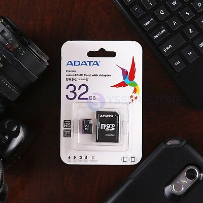 Micro SD 8 16 32 Gb microSDHC Memory Card with Adapter CLASS 10 ADATA New