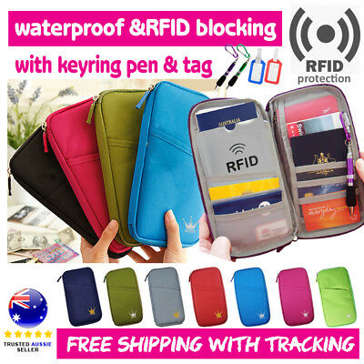 Travel Wallet Ticket Holder with RFID Blocking Covers for Passport Credit Cards
