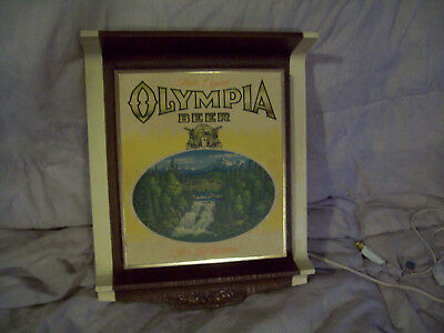 vintage olympia beer bar tavern lighted sign collectible