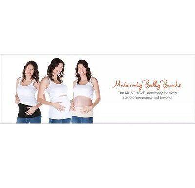 Baby Be Mine Maternity Belly Band Size 1 Creme Brulee