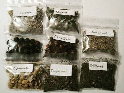 Wicca Lot 8 PC Herb Set/ Kit for Protection, Love & Peace