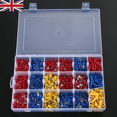 New Electrical Assorted Insulated Wire Connectors Terminals With a Case 1200pcs