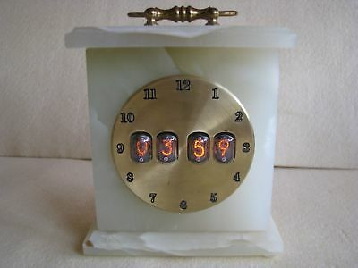 Marble and Brass Original Vintage Case IN17 Nixie Tubes Clock