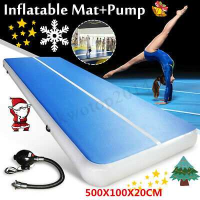 23FT Airtrack Air Track Floor Home Inflatable Gymnastics Tumbling Mat GYM+Pump