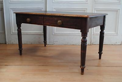 Great Antique Colonial Worn Kauri Hall Table Desk - Farmhouse Chic A Beauty !