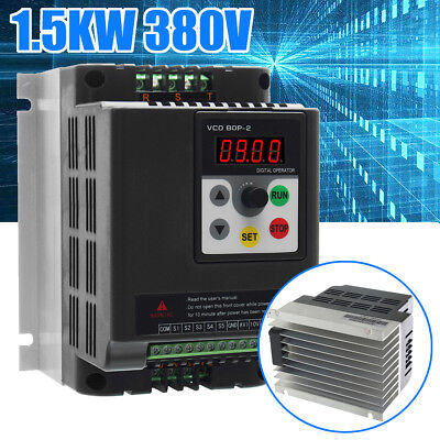 1.5KW 380V 3 Phase VFD Variable Frequency Motor Drive Speed Controller Inverter