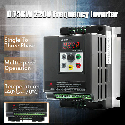 0.75KW 220V Single To 3 Phase Variable Frequency Inverter Motor Speed Drive