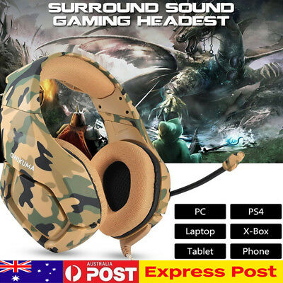 3.5mm Gaming Headset MIC Wired Headphones Surround For PC Laptop PS4 Xbox One AU