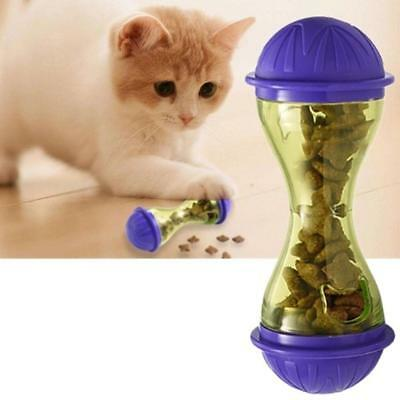 Pet Dogs Cats Fun Bowl Toy Feeder Dog Feeding Tumbler Leakage Food Ball S+
