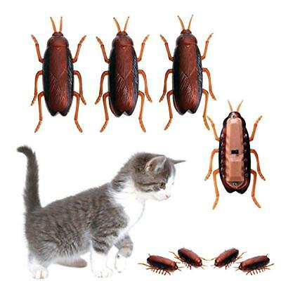 Funny Electronic Cockroach Pet Cat Puppy Kitten Interactive Training PlayToy S+