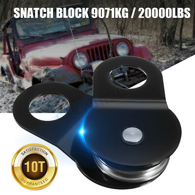 Heavy Duty Electric Winch Snatch Block Pulley Towing Off Road-Recovery 10Tons