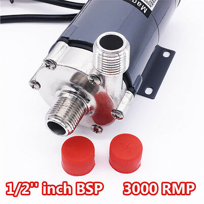 "220V 1/2"" Food Grade Magnetic Drive Pump Stainless Steel ery Beer Home  new new"