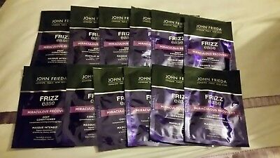 12 x John Frieda FRIZZ EASE DEEP MIRACULOUS RECOVERY Hair Conditioner Sachet