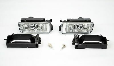 Bmw 3 Series E36 Fog Lights Crystal Glasses Saloon Estate Coupe Light Pair Bulbs