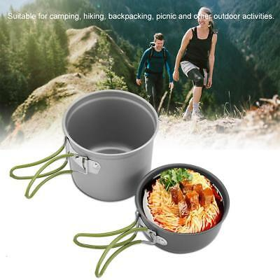 2Pcs/ Set Portable Outdoor Cooking Camping Hiking Cookware Picnic Cookware
