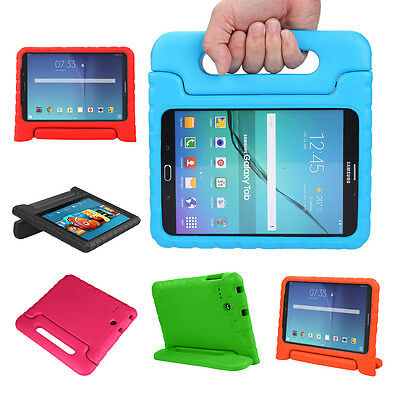 Kids Safe Handle EVA Shockproof Case Cover Stand For Samsung Galaxy Tab E 8.0