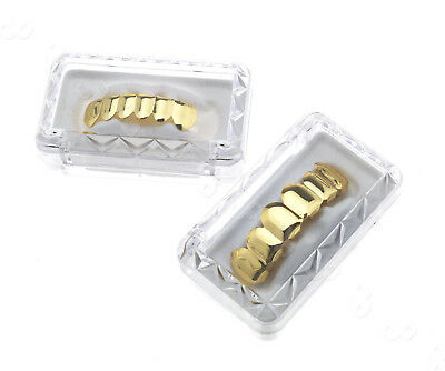 Gold Grillz Tooth Clip 24k Plated Mouth Teeth Caps Grills Shinning Hip Hop Party