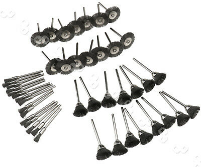 Steel Wire Wheel Pen Cup Brushes Grinding Kit Accessories for Dremel RotaryTool