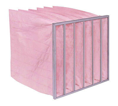 Air Filtration - HVAC Bag Filter - Pink 85% 592x492 various pocket lengths