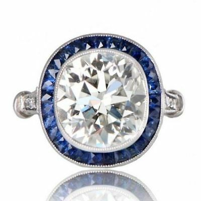 5 Ct Art Deco Vintage Cushion Cut Antique Engagement Ring In 925 Sterling Silver