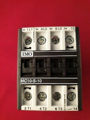 MC-10-S-10 IMO Contactor  24 Volt Coil 10 Amp