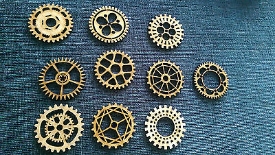 MDF Wooden Shapes Cogs 200mm High 3mm Thick Custom Cut x 3 pieces cog22