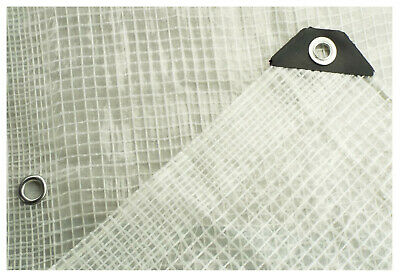 clear,mesh reinforced tarpaulin/ground sheet,all sizes,optional accessories