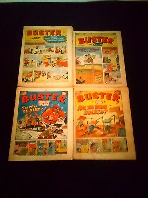 Buster Comics x 4 Vintage/Retro Bundle/Small Joblot 1970's