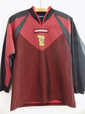 Vintage Scotland Umbro Retro 1998 MINT RARE Soccer Goalkeeper Football Shirt