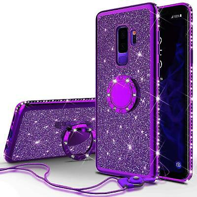 Luxury Bling Diamond Ring Holder Stand Phone Case Cover For Samsung Galaxy S9 S8