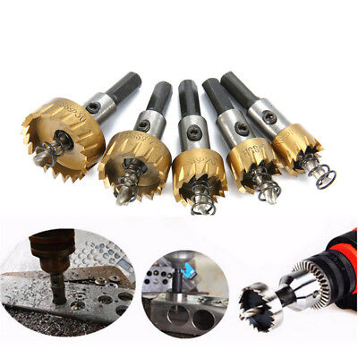 5PCS Hole Saw Tooth Kit HSS Steel Drill Bit Cutter Tool Set For Metal Wood Alloy