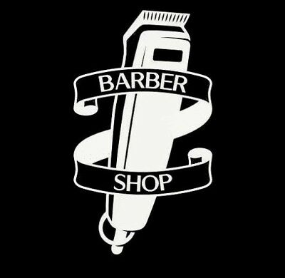 barbers shaver barber shop window sign sticker pole vinyl decal wall art door
