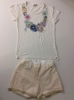 Miss Grant Outfit Set Shorts & Top Size 34 Age 8 Years Vgc