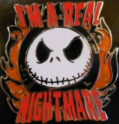 "Disney NBC- JACK SKELLINGTON - ""I'm A Real Nightmare"" Pin -  New On Card"