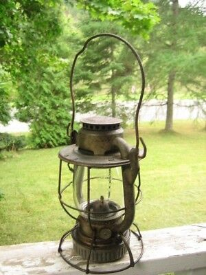 Maine Central Railroad clear glass lantern