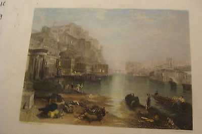 Vintage Print: ANCIENT ITALY, j m w turner, j t willmore, nice color, as shown