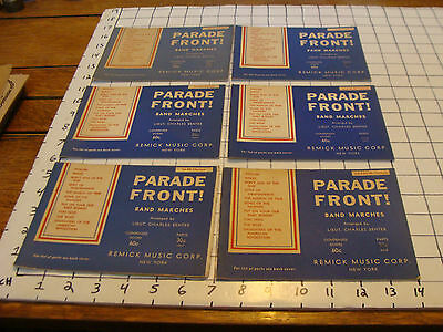 BAND BOOKS: 6 PARADE FRONT band marches Lieut Charles Benter