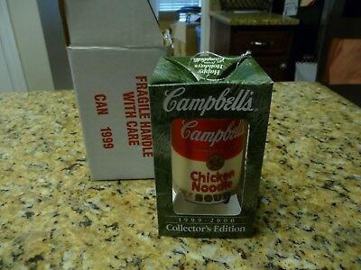 1999 Chicken Noodle Campbell's Soup Can Collectors Edition Christmas ornament