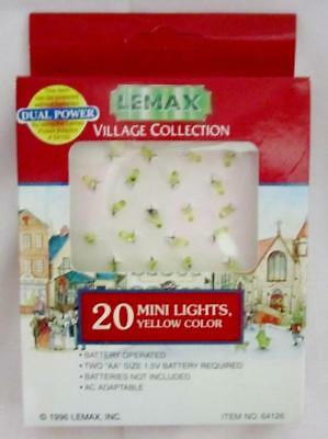 Lemax 20 MINI LIGHTS - YELLOW #64126 NRFP Lighted Village Accessory Dept 56 *