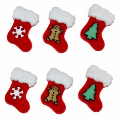 8 DESIGN 23mm Christmas Buttons Craft Stocking Costume Card Topper BUY 2 4 8+