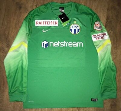 FC Zurich Switzerland #31 Baumann signed GK Goalkeeper match issue shirt size XL