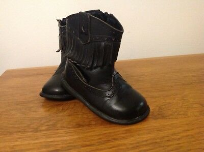 Girls Chatterbox Black Ankle Boots Size U.K 5 Good Condition